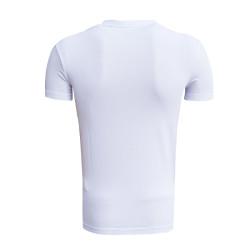 BURSASTORE - T-Shirt 0 Yaka Bs Beyaz (1)