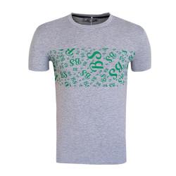 BURSASTORE - T-Shirt 0 Yaka Bs Gri