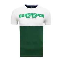 - T-Shirt 0 Yaka Bursaspor Est Beyaz Yeşil
