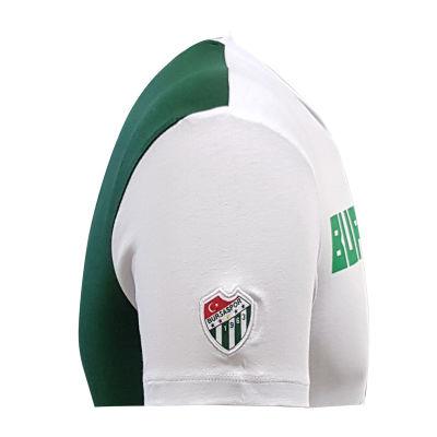 T-Shirt 0 Yaka Bursaspor Est Beyaz Yeşil