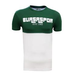 - T-Shirt 0 Yaka Bursaspor Est Yeşil Beyaz