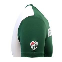 T-Shirt 0 Yaka Bursaspor Est Yeşil Beyaz - Thumbnail