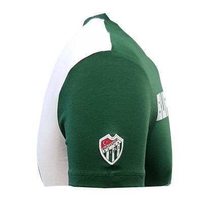 T-Shirt 0 Yaka Bursaspor Est Yeşil Beyaz