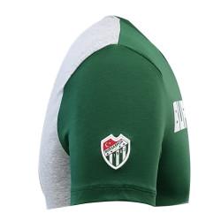 T-Shirt 0 Yaka Bursaspor Est Yeşil Gri - Thumbnail
