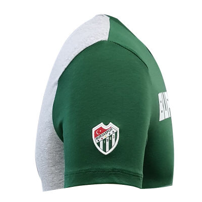 T-Shirt 0 Yaka Bursaspor Est Yeşil Gri