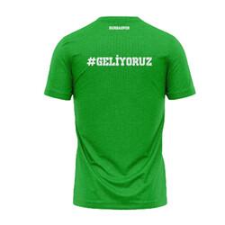 BURSASTORE - T-Shirt 0 Yaka Geliyoruz Yeşil (1)