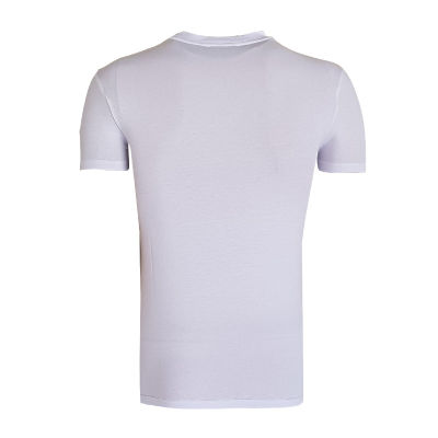 T-Shirt 0 Yaka Nostalji Beyaz