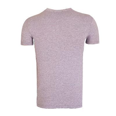 T-Shirt 0 Yaka Nostalji Gri