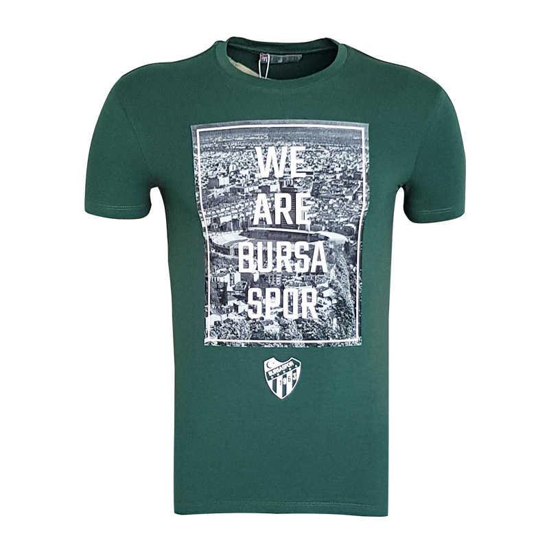 - T-Shirt 0 Yaka Nostalji Yeşil
