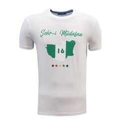 BURSASTORE - T-Shirt 0 Yaka Şehr-i Müdafaa Beyaz