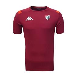 T-Shirt Kappa 0 Yaka Bordo - Thumbnail