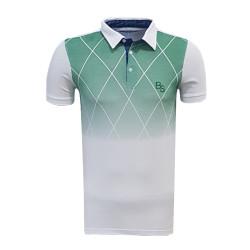 - T-Shirt Polo Yaka Baklava Beyaz