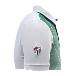 T-Shirt Polo Yaka Baklava Beyaz - Thumbnail