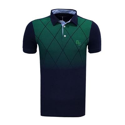 T-Shirt Polo Yaka Baklava Yeşil Lacivert