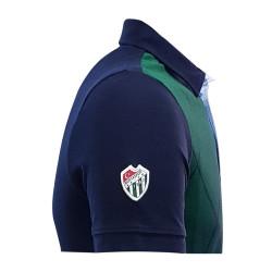 T-Shirt Polo Yaka Baklava Yeşil Lacivert - Thumbnail