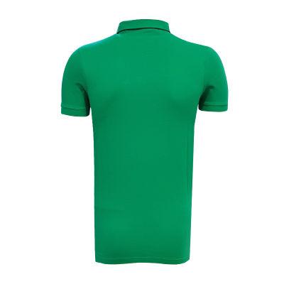 T-Shirt Polo Yaka Baklava Yeşil Beyaz