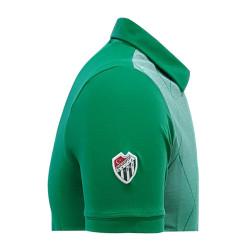 T-Shirt Polo Yaka Baklava Yeşil Beyaz - Thumbnail
