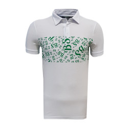 T-Shirt Polo Yaka Bs Beyaz - Thumbnail