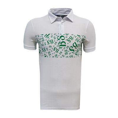T-Shirt Polo Yaka Bs Beyaz