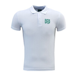 - T-Shirt Polo Yaka Bursaspor Beyaz