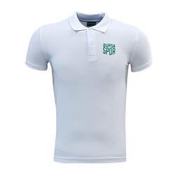 BURSASTORE - T-Shirt Polo Yaka Bursaspor Beyaz