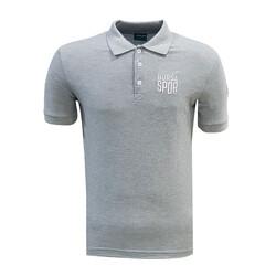 - T-Shirt Polo Yaka Bursaspor Gri