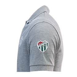 T-Shirt Polo Yaka Bursaspor Gri - Thumbnail