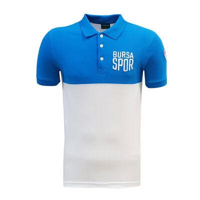 T-Shirt Polo Yaka Bursaspor Mavi Beyaz