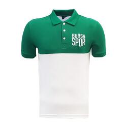 BURSASTORE - T-Shirt Polo Yaka Bursaspor Yeşil Beyaz