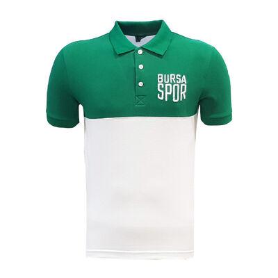 T-Shirt Polo Yaka Bursaspor Yeşil Beyaz