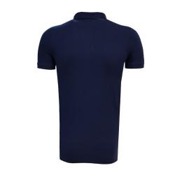 - T-Shirt Polo Yaka Çizgili Lacivert (1)