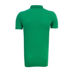 BURSASTORE - T-Shirt Polo Yaka Çizgili Yeşil (1)